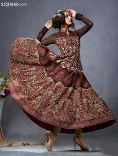 image-2-skdaa10293a-maroon-georgette-anarkali-suit-with-embroidery-work