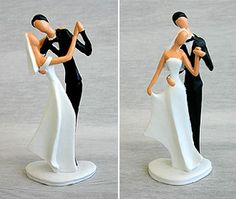 French Bride & Groom #Topper for tier #wedding cake
