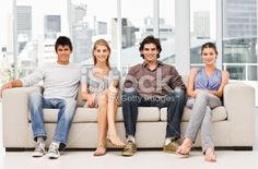 Stock photos, like this one from istock, reveal unspoken rules about how men and women should sit Gender Binary, 24 Years, Men And Women, Young Man, Couch, Stock Photos, Female, Portrait, Settee