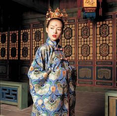 Zhang Ziyi blue dress costume from House of Flying Daggers, design by Emi Wada