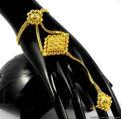 Gold Plated Bracelets Ratanchur 1 Ring Beautiful Indian Designer Fashion Jewelry