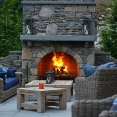 Our residential and commercial landscape design services will beautify your home or business. Outdoor Wood Burning Fireplace, Outdoor Fireplace Patio, Outdoor Fireplace Designs, Build Outdoor Kitchen, Outdoor Dining, Living Environment, Outdoor Projects, The Fresh, Chata