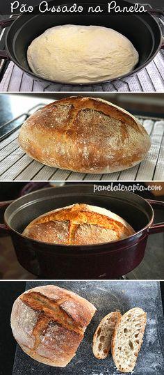 Pão maravilhoso, sem sovar, muito fácil! Não leva açúcar nem gordura!