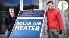 Awesome Solar Air Heater for Off Grid Living, Tiny Houses, RVs and more.. - YouTube