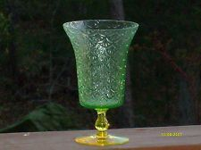 vaseline Turkey Track Swedish depression glass