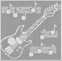 ELECTRIC GUITAR CROCHET AFGHAN PATTERNS COPYRIGHT TINA GIBBONS