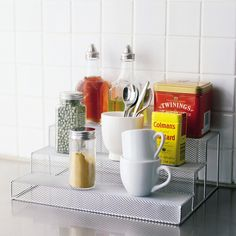3-Tiered Mesh Spice Stepper Rack by Design Ideas