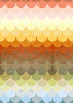 Half Circles Waves Color Art Print | Man I love this one.