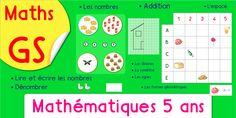 PDF, Activité Mathématique Maternelle GS - Grande Section, le dénombrement, la logique, le repérage, apprendre les nombres de 1 à 10 et plus. Maths 5 ans.