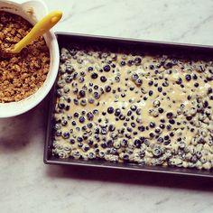 Blueberry Custard Crumble Bars
