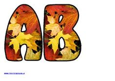 One of hundreds of FREE Instant Display lettering sets for classroom bulletin board display.This set features fall leaves. Also available in numbers and upper and lower-case letters.Create your own colourful and subject appropriate display board headings. Holiday Bulletin Boards, Thanksgiving Bulletin Boards, Bulletin Board Letters, Bulletin Board Display, Classroom Bulletin Boards, Autumn Display Boards, Display Boards For School, Instant Display Lettering, Fall Fonts