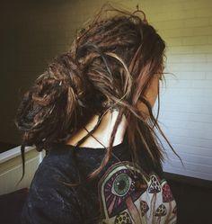 Bohemian Hairstyles, Dreadlock Hairstyles, Messy Hairstyles, Partial Dreads, White Dreads, Short Dreads, Beautiful Dreadlocks, Dreads Girl, Hair Again