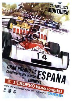 1973. Cartel Gran Premio de España de Fórmula 1. Barcelona