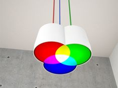 """From the post: """"annaovchinnikova: RGB lamp by Blue Ant Studio. Now, where is the CMYK """"   Me:  ALL I can think of is searching and Venn diagrams.  I think I want this!!!"""