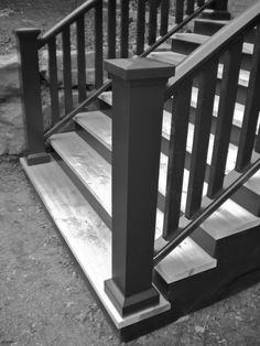 charcoal railing cedar steps - Google Search