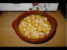 Receta de Gambas al ajillo Monsieur Cuisine Silvercrest Lidl - YouTube Vegetables, Cooking, Silver, Garlic Shrimp Recipes, Butter Pound Cake, Lemon Sorbet, Garlic, Cooking Recipes, Food
