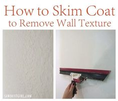 How to get rid of ugly wall texture – Skim coating with a Magic Trowel (Sawdust Girl) Deep Cleaning Tips, House Cleaning Tips, Cleaning Hacks, Diy Hacks, Home Improvement Loans, Home Improvement Projects, Home Remodeling Diy, Home Renovation, Bedroom Remodeling
