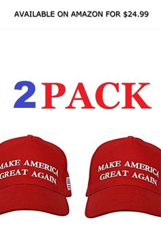 Make America Great Again Hat , Donald Trump USA MAGA Cap Adjustable Baseball Hat ◆ AVAILABLE ON AMAZON FOR: $24.99 ◆ The Iconic Make America Great Again Hat Fashion Brands, Fashion Accessories, Great America, Donald Trump, Baseball Hats, Topshop, Cap, Amazon, How To Make