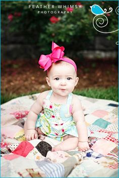 6 Month Old Photo Ideas | ... month old baby photograph. Penelope makes an adorable smirk. She is