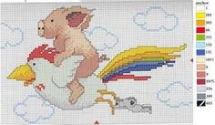 Image result for cross stitch Flying Pig