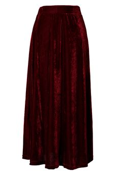 Velvet Pleated Maxi Skirt in Wine Red - Bottoms - Retro, Indie and Unique Fashion #Chicwish