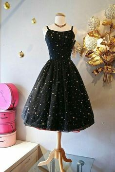 2019 Short HOmecoming Dresses, Black Homecoming Dresses Party Dresses Customized service and Rush order are available. *** Customers need to know : All of the dresses don't come Vintage Dresses 50s, Vestidos Vintage, Vintage Outfits, Vintage Fashion, 1950s Fashion Dresses, Classy Fashion, Vintage Clothing, Pretty Outfits, Pretty Dresses