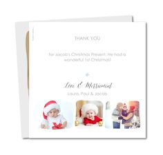 Christmas Garland Thank You Card G By PlanetCardsCoUk A