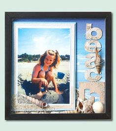 Beach Shadow Box....A great idea for a memory from a beach outing