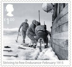 Shackleton and the Endurance Expedition 1st Stamp (2016) Striving to free Endurance - February 1915