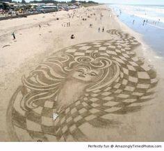 Beach Sand Art