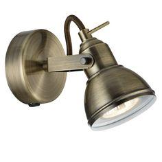 1541AB Focus Single spotlight Antique Brass
