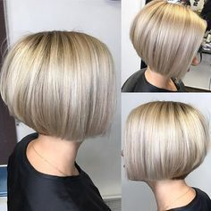 "365 Likes, 9 Comments - @bobbedhaircuts on Instagram: ""What is not to like about this short bob, perfect cut and the color is devine. Credit to…"""