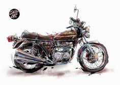 Sketch My Bike Motorcycle Art, Bike Stuff, Sci Fi, Sketch, Vehicles, Sketch Drawing, Science Fiction, Rolling Stock, Sketches