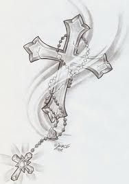 cross and rosary tattoos - Google Search