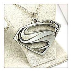 Amazon.com: Super Necklace, Super Symbol, Super Logo Silver Super Necklace, Super Chain, Character Necklace (3): Jewelry