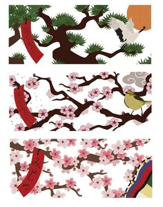 more Hanafuda art by Kelsey Cretcher