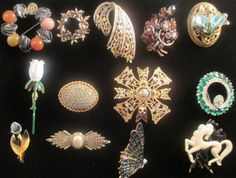 Lot of Costume Jewelry Hollycraft, Coro Craft, : Lot 158
