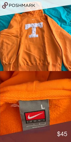 University of Tennessee Sweatshirt White T in the front• Normal Pocket in the front• Drawstring Hood• Very Warm• Quality nike• Go Rocky Top!! Nike Shirts Sweatshirts & Hoodies