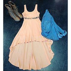 high low dress // denim shirt // combat boots // country girl // cut out dress // Miami boutique // fashion // fall fashion // girls will be girls // gwbg // shopgwbg // ootd // #gtl #ootd #girlswillbegirls