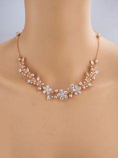 Backdrop Pearl necklace, Bridal necklace, Swarovski Bridal jewelry AMELIA