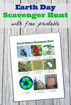 Free printable Earth Day scavenger hunt for preschoolers, kids and tweens - teach them about environmental science, eco friendly living and how to reduce, reuse and recycle with this fun & easy activity for Earth Day! Gross Motor Activities, Kids Learning Activities, Science Activities, Fun Learning, Outdoor Activities, Teaching Kids, Nature Activities, Outdoor Learning, Primary Science