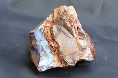 Raw Specimen of Queensland Boulder Opal, Sample of Natural Blue Australian Opal in Ancient Rock, Rough Mineral Specimen for Rock Collector. #jewelry #jewelrymaking #jewelrydesign #boho #bohochic #gypsy #bohostyle #bohojewelry #opal #stone #gemstone #pearl   #raw