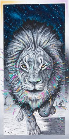 Dela's surreal visionary paintings involve women, space, animals and water. Dela is a natural mystic at painting the spiritual aspects of nature in his art. Wild Lion, Lion Print, Visionary Art, Beach Blanket, Festival Outfits, Wall Prints, Wall Tapestry, Art Reproductions, Vivid Colors