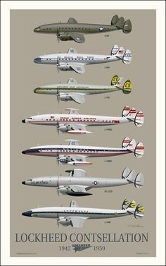 Lockheed Constellation evolution - Aircraft and Aviation Civil Aviation, Aviation Art, Constellations, Auto Union 1000, Wiking Autos, Old Planes, Passenger Aircraft, Aircraft Painting, Airplane Art