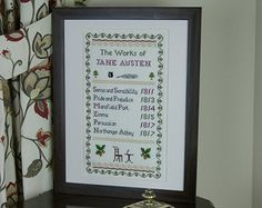 sampler girl jane austen designs - Google Search