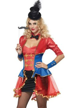 Sexy Red Blue Adult Magician Costume