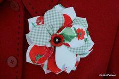 AMO CRAFT: Mais um modelo de flor de tecido