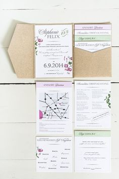 Boho Style Stationery, Pocket Invitation - Strong colors, white and flowers, preferably herbariums, like a bit cheesy and yet rustic. Wedding Cards, Diy Wedding, Dream Wedding, Wedding Day, Luxury Wedding, Wedding Venues, Wedding Stationary, Wedding Invitations, Wedding Planer