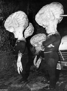 Invasion of the Saucer Men - They are impervious to gunfire but are vulnerable to bright light, which causes them to vaporize .