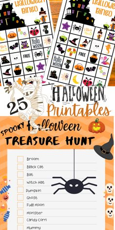 25 FREE Halloween Printables! Scavenger hunt, bingo, coloring pages, treasure hunt, crosswords, word search and MORE! All are free! Grab yours today and have some fun! #kids #kidsstuff #Halloween #halloweenprintables #printables #printable #free #freeprintables #freehalloweenprintables #worksheets #homeschool #homeschooling #homeschoolactivities #activitiesforkids #spooky #halloweenfun #bingo #scavengerhunt #treasurehunt #wordsearch #coloringpages Halloween Bingo Cards, Halloween Scavenger Hunt, Halloween Games For Kids, Kids Party Games, Halloween Activities, Halloween Fun, Halloween Printable, Halloween Traditions, Halloween Projects